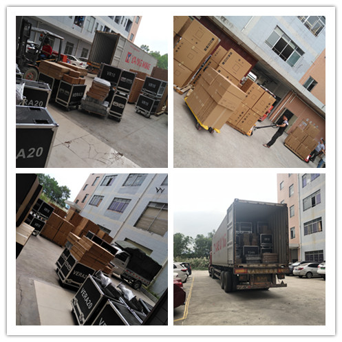 40HQ Container with Amplifier and Line Array ship to Middle East