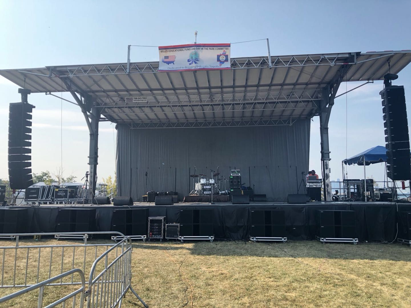 Sanway VERA 36 line array and KS28 subwoofer provided a wonderful performance to 38th Annual Belize Day