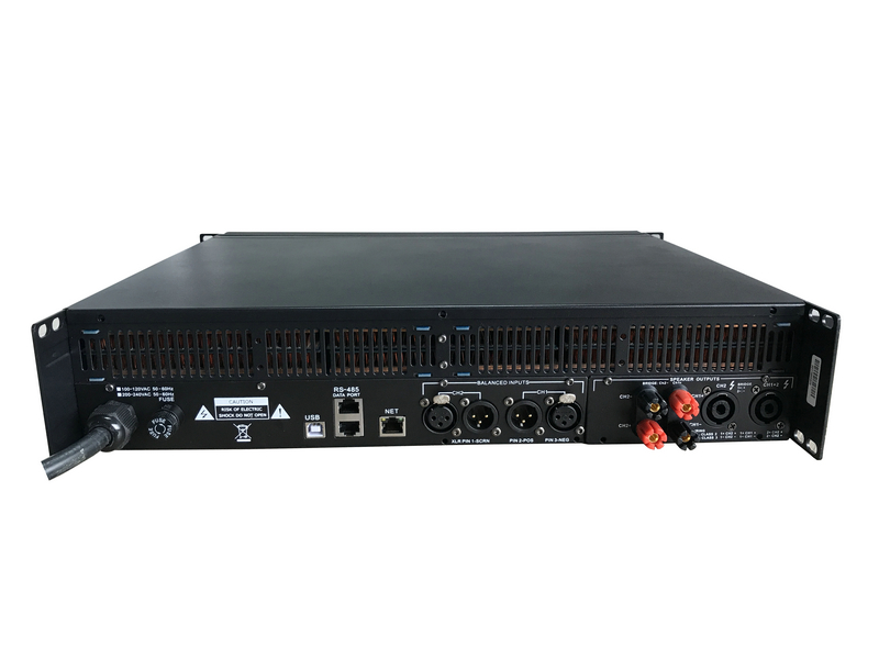 D14 7000W Stereo DSP Network Power Amplifier With Wifi Function