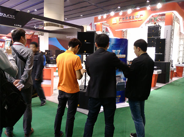Sanway VR10&S30 Powered Line Array System in 2017 Guangzhou Prolight+Sound Expo