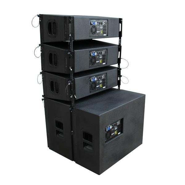 LA208LA18S LA208 Dual 8 Zoll Line Array System mit eigener Stromversorgung